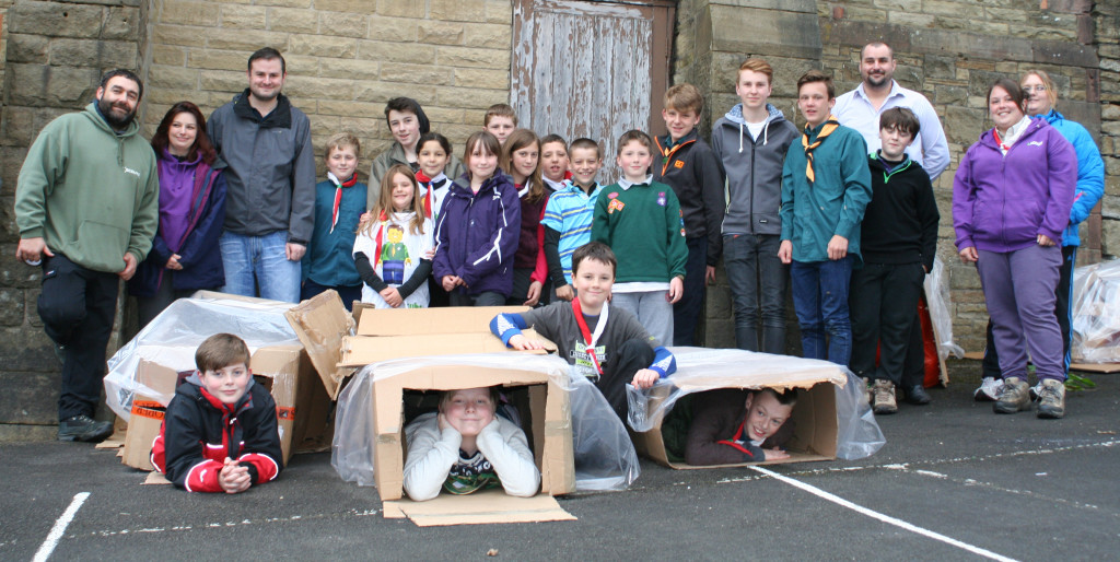 The group are prepared to sleep in boxes to experience what it's like to be homeless